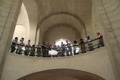 Spectators at the Louvre in Paris Royalty Free Stock Photo