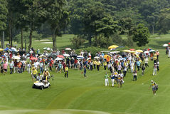 Spectators of Maybank Malaysian Open 2012 Stock Photo
