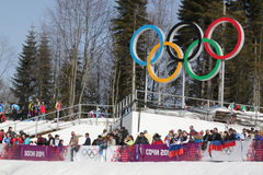 Spectators during Men's Cross-country 50km mass start Stock Photography