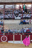 Spectators and music band in a bullfight in Ubeda Royalty Free Stock Photo