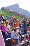 Spectators at Rio2016 Olympics in Brazil Royalty Free Stock Photo