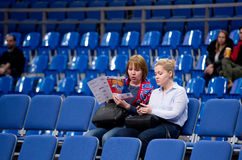 Spectators on Sport arena Megasport tribune Stock Images