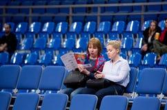 Spectators on Sport arena Megasport tribune stock images