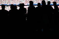 Spectators stadium Stock Images
