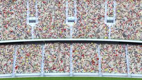 Spectators in the stadium. 3d rendering Stock Images