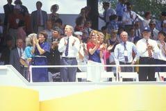 Spectators In Stands, Desert Storm Victory Parade, Washington, D.C. Stock Photos