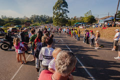 Supporters Comrades Marathon Runners Stock Photo