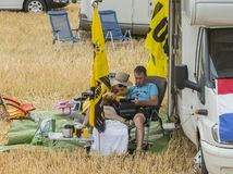 Spectators - Tour de France 2015 Stock Image
