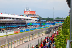 Spectators on tribunes on The Formula 1 Grand Prix Stock Photography