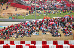 Spectators on tribunes on The Formula 1 Grand Prix Stock Photo