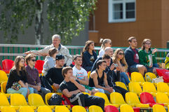 Spectators on tribunes Royalty Free Stock Photo