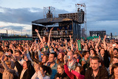 Spectators watch a concert at Heineken Primavera Sound 2014 Festival Stock Image