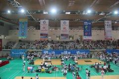 Spectators watch the Shenzhen Taekwondo Championship Stock Image