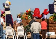 Spectators watching the flowerparade. Stock Image