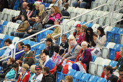 Spectators at XXII Winter Olympic Games Sochi 2014 Stock Photography