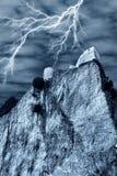 Spectraal kasteel met bliksem Royalty-vrije Stock Afbeelding