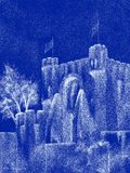 Spectraal Middeleeuws Kasteel Stock Fotografie