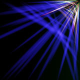 Spectral and blue rays Stock Images
