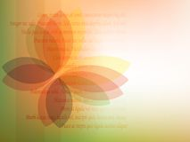Spectral butterfly. Stylish background with transparent butterfly Stock Photography