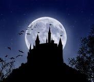 Spectral castle stock photo