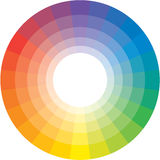 Spectral circle. Multicolor spectral circle from 24 segments. (So called the Circle of Shugaev Stock Image