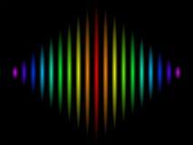 Spectral colored diamond Stock Photo