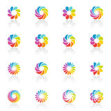 Spectral fantasies. Vector logo template set. Royalty Free Stock Photos