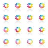 Spectral fantasies. Vector logo template set. Royalty Free Stock Photos