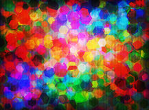 Spectral hexagons Stock Photography