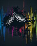 Spectral Party Poster. Vector Illustration Royalty Free Stock Photo