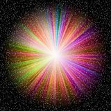 Spectral starburst stock photography