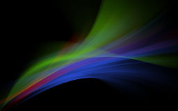 Spectral waves. An illustration of spectral waves on black background Royalty Free Stock Photography