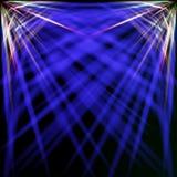 Spectrale en blauwe stralen Stock Fotografie
