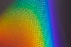 Spectrale gradi?nt die van zonlicht door een prisma komen stock foto
