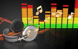 spectre audio d'audio du spectre 3d Images stock