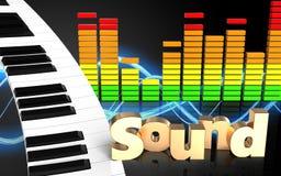 spectre audio d'audio du spectre 3d Photo stock