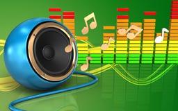 spectre audio d'audio du spectre 3d Photographie stock