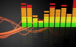 spectre audio d'audio du spectre 3d Photos stock