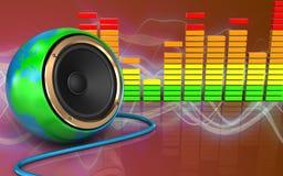 spectre audio d'audio du spectre 3d Photos libres de droits