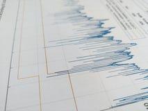 Spectre d'émissions rayonné avec des lignes de limite dans le rapport d'EMC images libres de droits