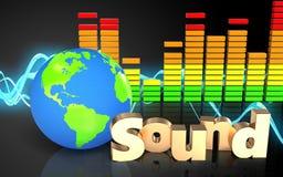 spectre d'audio de signe du 'bruit' 3d Photos stock