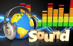 spectre d'audio de signe du 'bruit' 3d Photo libre de droits