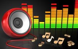 spectre d'audio du haut-parleur 3d Photos libres de droits
