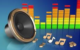 spectre d'audio du haut-parleur 3d bruyant Photo libre de droits