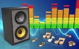 spectre d'audio du système de son 3d Photo stock