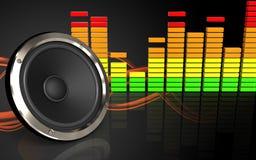 spectre 3d audio vide Images stock
