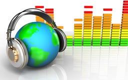 spectre 3d audio vide Photos libres de droits
