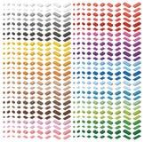Spectre de couleur grand paquet de briques d'enfants Jouet de brique, briques colorées d'isolement sur le fond blanc Toutes les t Photographie stock libre de droits