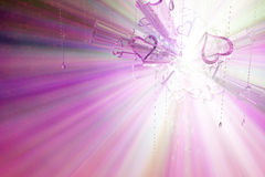 Spectre en verre de coeur Photos stock
