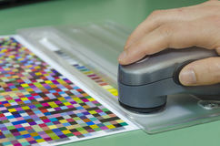 Spectrophotometer instrument measurment Royalty Free Stock Photo